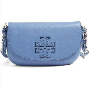 NWT Tory Burch Blue Mini Harper Crossbody Bag $325